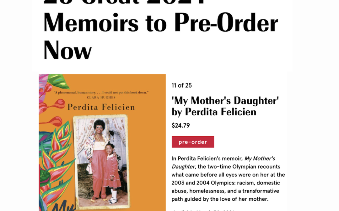 My Mother's Daughter Makes Marie Claire Exclusive List!